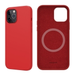 NILLKIN Flex Pure Pro Series Silicone Magsafe Case For iPhone 12 Pro Max(Red)