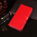 For Alcatel 1B 2020 idewei Crazy Horse Texture Horizontal Flip Leather Case with Holder & Card Slots & Wallet(Red)