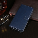 For Meizu M10 idewei Crazy Horse Texture Horizontal Flip Leather Case with Holder & Card Slots & Wallet(Dark Blue)