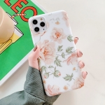 Retro Flowers Pattern Shockproof TPU Protective Case For iPhone 11(Pink+Green)