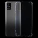 For Samsung Galaxy M31s Four-Corner Shockproof Ultra-thin TPU Case(Transparent)