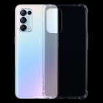 For OPPO Reno5 5G Four-Corner Shockproof Ultra-thin TPU Case(Transparent)