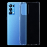 For OPPO Reno5 Pro 5G Four-Corner Shockproof Ultra-thin TPU Case(Transparent)
