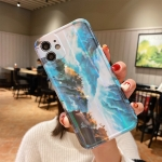 Aurora TPU Shockproof Protective Case For iPhone 11(Blue Marble)
