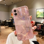 Aurora TPU Shockproof Protective Case For iPhone 12(Rose Gold Marble)