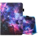 For Samsung Galaxy Tab A 8.0 (2019) T290 / T295 Sewing Thread Horizontal Painted Flat Leather Case with Pen Cover & Anti Skid Strip & Card Slot & Holder(Starry Sky)
