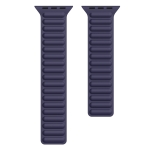 Silicone Magnetic Chain Watchband For Apple Watch Series 6 & SE & 5 & 4 44mm / 3 & 2 & 1 42mm(Dark Blue)