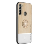 For Xiaomi Redmi Note 8 Wood Grain PC + TPU Shockproof Protective Case with Ring Holder(Wood Color)