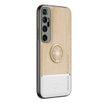For Xiaomi Mi 10 Ultra Wood Grain PC + TPU Shockproof Protective Case with Ring Holder(Wood Color)