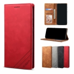 For Samsung Galaxy A21 GUSSIM GS-001 Business Style Horizontal Flip Skin Feel PU Leather Case with Holder & Card Slots & Wallet & Photo Frame(Red)