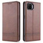 For Oppo A73(4G)2020 AZNS Magnetic Calf Texture Horizontal Flip Leather Case with Card Slots & Holder & Wallet(Dark Brown)