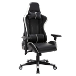 [US Warehouse] OFICINE Ergonomic Gaming Game Chairs with Armrests & Pillows & Casters (White)