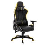 [US Warehouse] OFICINE Ergonomic Gaming Game Chairs with Armrests & Pillows & Casters (Yellow)