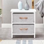 [US Warehouse] Dresser Storage Cabinet with 2 Drawer, Size: 16×12.6×17 inch (White)