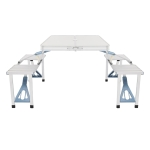 [US Warehouse] Aluminum Alloy One Piece Folding Table And Chairs