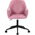 [UK Warehouse] Home Office Velvet Swivel Chairs with Armrests, Size: 65x65x86〜96cm(Pink)