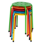 [US Warehouse] 5 PCS Stackable Round Stool In Five Colors