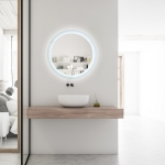 [US Warehouse] Bathroom Vanity Mirror with LED Light, Size: 24×24 inch