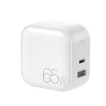 WK WP-U113 GaN 65W Dual USB Fast Charger Power Adapter, US Plug