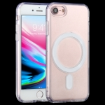 Magsafe Case Simple Magnetic Ring All-inclusive Clear Crystal Acrylic PC +TPU Shockproof Case For iPhone SE 2020 / 8