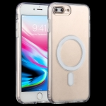 Magsafe Case Simple Magnetic Ring All-inclusive Clear Crystal Acrylic PC +TPU Shockproof Case For iPhone 7 Plus / 8  Plus