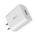 WK WP-U112 18W Single USB Fast Charging Travel Charger Power Adapter (White)