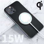 WK WP-U92 15W Ultra Thin Magnetic Wireless Charger with Indicator Light (White)