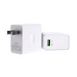 WK WP-U114 30W Single USB Fast Charging Travel Charger Power Adapter (White)