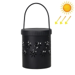 Hollow Flower Shape Wrought Iron Portable Lantern Garden Landscape Light Waterproof Light-controlled Solar Light, Luminous Flux: 30lm (Warm White)