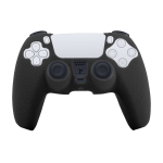 Leather Texture Silicone Protective Case For PS5 (Black)