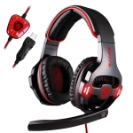 SADES SA-903 7.1 Channel Wire-controlled Gaming Headset with Breathing Light & Hidden Microphone, Cable Length: 3m(Black Red)