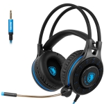 SADES SA936 3.5mm Plug Gaming Headset with Light Switch & 360-degree Adjustable Microphone, Cable Length: 1.5m