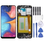 Original LCD Screen and Digitizer Full Assembly With Frame for Samsung Galaxy A20e SM-A202