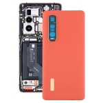 Original Leather Material Battery Back Cover for OPPO Find X2 Pro CPH2025 PDEM30(Orange)
