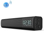 C2 10W TWS Wireless Outdoor Portable Speaker Bass Home Theater Subwoofer Soundbar Audio, Support Clock and Alarm