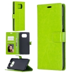 For Xiaomi Poco X3 NFC Crazy Horse Texture Horizontal Flip Leather Case with Holder & Card Slots & Wallet & Photo Frame(Green)