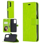 For Xiaomi Mi 10T Pro Crazy Horse Texture Horizontal Flip Leather Case with Holder & Card Slots & Wallet & Photo Frame(Green)
