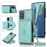 For Samsung Galaxy S20 Multi-functional Cross-body Card Bag TPU+PU Back Cover Case with Holder & Card Slot & Wallet(Green)