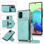 For Samsung Galaxy A41 Multi-functional Cross-body Card Bag TPU+PU Back Cover Case with Holder & Card Slot & Wallet(Green)
