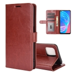 For OPPO A72 / A73 5G R64 Texture Single Horizontal Flip Protective Case with Holder & Card Slots & Wallet & Photo Frame(Brown)