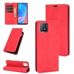 For OPPO A72 / A73 5G Retro-skin Business Magnetic Suction Leather Case with Holder & Card Slots & Wallet(Red)