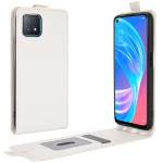 For OPPO A72 / A73 5G R64 Texture Single Vertical Flip Leather Protective Case with Card Slots & Photo Frame(White)