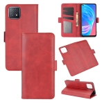 For OPPO A72 / A73 5G Dual-side Magnetic Buckle Horizontal Flip Leather Case with Holder & Card Slots & Wallet(Red)