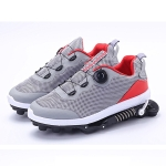 Mechanical Run-up Spring Shoes Outdoor Sports Shock Absorption Anti-Slip Running Shoes, Size: 43(Gray Red)