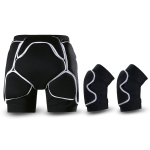 WEISOK Ski Hip Pads Knee Pads Adult Roller Skating Protective Gear, Specification: S (30-50kg)