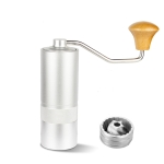 R03  Stainless Steel Hand Grinder Portable Coffee Grinder Manual Coffee Machine(Silver)
