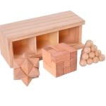 3 PCS / Set Adult Wooden Box Educational Toys Kongming Lock Luban Lock