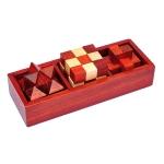 Classical Wooden Educational Toys Kongming Lock Luban Lock Intelligence Unlock