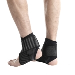 Sports Ankle Support Bandage Protective Gear Sprained Fixed Ankle Protection Warm Running Equipment, Specification: L (Left Foot)