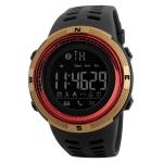 SKMEI 1250 Men Outdoor Waterproof Sports Digital Watch Multi-Function Watch(Gold/Red)